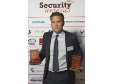 NetClean dubbelt prisat vid Security Awards 2011 - Pelle Garå med priserna