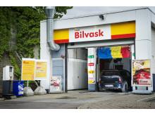 Svanemerkede kjemikalier i Shells bilvask
