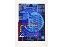 Arkitektur på museum. Norsk samtidsarkitektur 1985–90. Utstillingsplakat, design: Reidar Holtskog