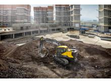 Volvo EC140E grävmaskin - på arbetsplatsen