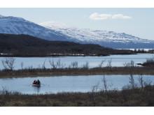 Berg och fjällsjöar i Stordalen, Abisko.