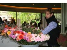 Johan Pettersson i final på Interfloras SM i blomsterbinderi 2010