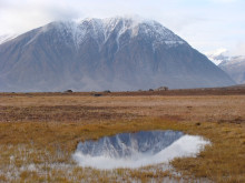 Tinande permafrostlandskap