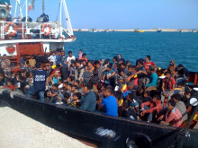 One of the largest group of migrant minors on the same boat from Libya, rescued by operation Mare Nostrum