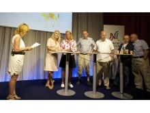 Nätverket mot cancer i Almedalen 3 juli 2012: Malou von Sivers leder paneldiskussion om tillgång till riktad cancervård