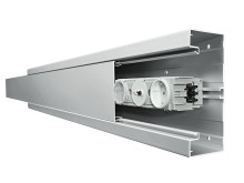 Självjordande kabelkanal i aluminium - tehalit.BRA öppen