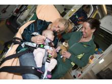 Kangoofix, säkerhetsbältes-system för nyfödda i ambulans