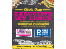 Set lunch at Clarke Quay