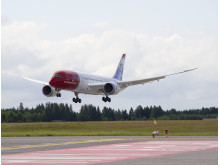 Norwegians first Dreamliner lands at Oslo Gardemoen on June 30th 2013