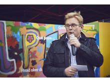 Fredrik Gustavsson, platschef för AkzoNobels färgfabrik i Malmö