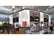 Artist impression of DFS L&T duplex store at T3