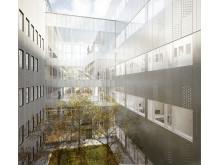 Danderyds sjukhus - ny akutvårdsbyggnad - Ljusgård 3 och trapphus