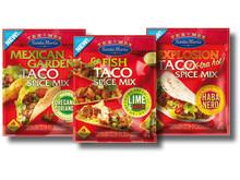 Samlingsbild. Santa Maria nya kryddmixer för Tex Mex