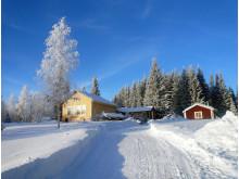Huset i Fallet i Jämtland där deltagarna bor under Running Camp med Markus Torgeby.