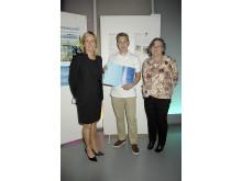 Vinnaren av Juniorvattenpriset tillsammans med Tyréns