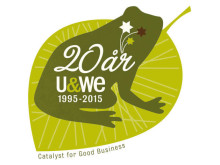 U&We:s jubileumslogotyp