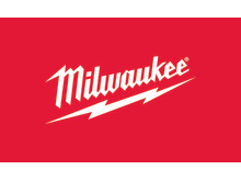 Milwaukee logo - hvid på rød