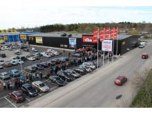 Översikt över parkeringen och Boglundsängen inför premiären