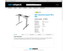 BIMobject portal - web based product page for a BIM object