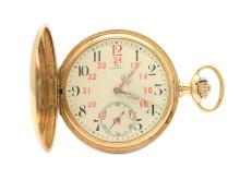 """Klockor 4/7, Nr: 93, OMEGA, fickur, 50 mm, savonett, """"Rödtolva"""", Cal 19 SB"""