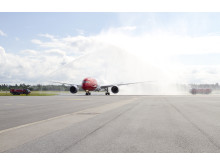 Norwegians first Dreamliner lands at Oslo Gardemoen June 30th 2013