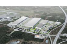 Göteborg Landvetters nya logistikcentrum.