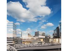 Veidekke får i uppdrag att bygga SEB:s nya kontor i Arenastaden åt Fabege