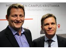 Svein trønnes, Direktør for Canon Business Services, og Pål Nakken, Økonomi- og finansdirektør hos Campus Kristiania