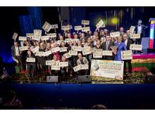 Svenska PostkodLotteriets förmånstagarutdelning 2015