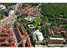 Flygfoto Campus Näckrosen, Göteborgs universitet