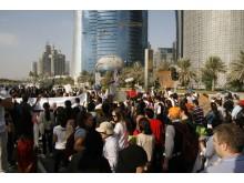 Demonstrationer utanför klimatförhandlingarna i Doha