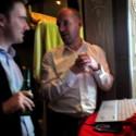 """Newsdesk chillar i sitt """"social media newsroom"""" på Guldägget 2009"""