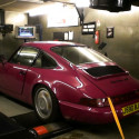 Porsche 964RS with Motec on the rollers