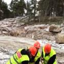 Här tas det första spadtaget för Blomsterfondens nya seniorbostäder i Älvsjö