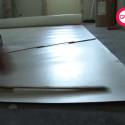 Montera plastmatta i våtutrymme - vägg