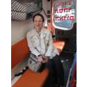 Ulrika Årehed Kågström i en ambulans i Jerusalem