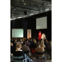 Mynewsdesk COO Jonathan Bean presents the trends of 2012 for a spellbound audience at Mynewsday in Malmö, Sweden