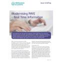 HMRC Briefing - Modernising PAYE Real Time Information