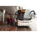 Trafikrapport från Swebus: Extra platser på grund av tågstoppet