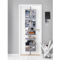 Elfa Utility Door and Wall Rack platinan värisenä