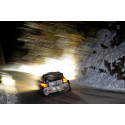 Snö och slask i Rally Monte Carlo
