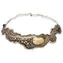 Smyckekvaliten 28 november, Nr: 1, ROLF LINDSTÅHL, collier, sterlingsilver, delvis förgyllt