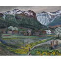 Impressions. Five Centuries of Woodcuts. Nikolai Astrup, Marigold Night, probably before 1915.