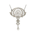Smyckekvaliten 28 november, Nr: 2, COLLIER, platina, mediumslipade diamanter ca 2,50 ctv