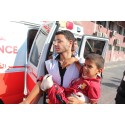 Evakuering av skadade i Gaza
