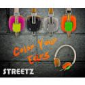 Color Your Ears med Streetz nya färgglada hörlurar!