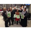 Fyra stipendiater får miljöstipendium och hedersdiplom i Väsby