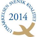 MTR tilldelas Utmärkelsen Svensk Kvalitet 2014