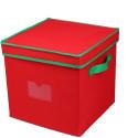 Väska för julkulor - locket på