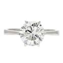 Smyckekvaliten 25/4, Nr: 9, W.A. BOLIN, enstensring, 18K vitguld, briljantslipad diamant ca 2,10 ct
